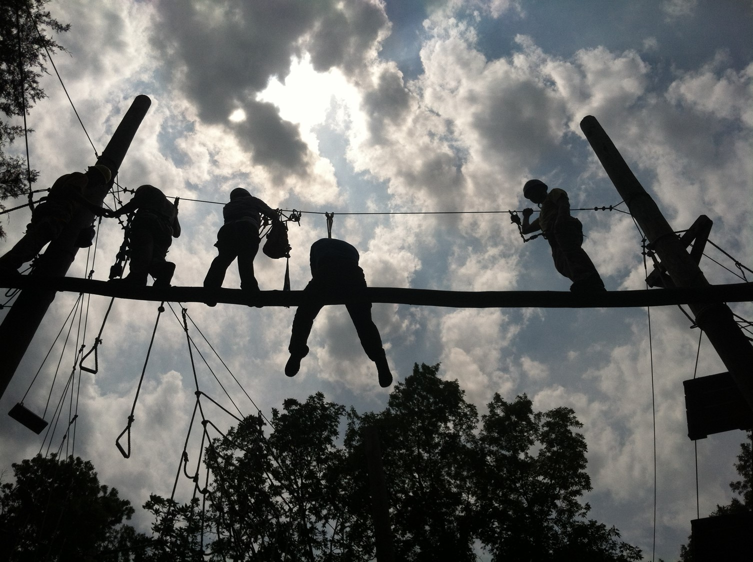high-ropes course